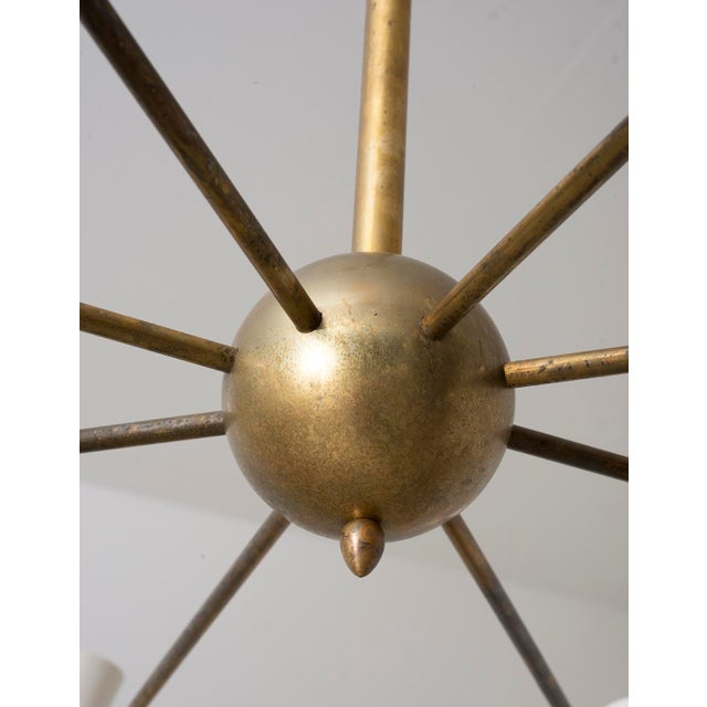 Stilnovo Eight Arm Diabolo Chandelier, Italy, 1950s For Sale - Image 10 of 12
