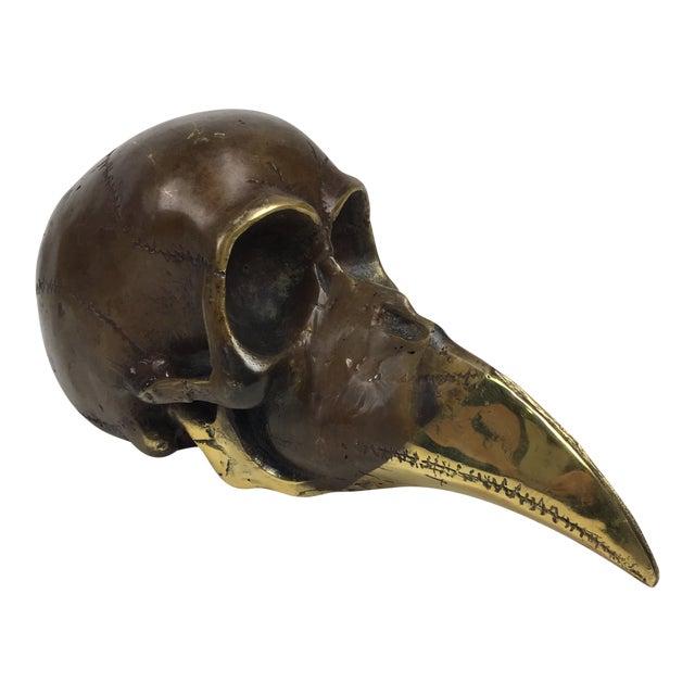 Modernist Bronze Skull Sculpture 1974 Stein For Sale