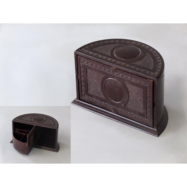 Estimated Retail Price: $60. Offered is a humidor cigarette dispenser with Bakelite revolving roto tray. Each Sarreid LTD...
