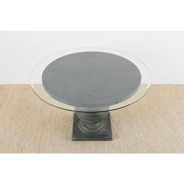 Neoclassical Patinated Metal Pedestal Dining or Centre Table For Sale - Image 9 of 13