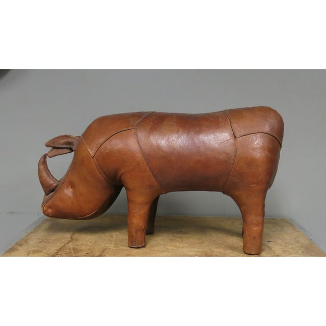 Mid-Century Modern Vintage Omersa Abercrombie & Fitch Rhino Footstool For Sale - Image 3 of 6