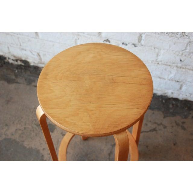Wood Alvar Aalto for Artek Bentwood Bar Stools - a Pair For Sale - Image 7 of 9