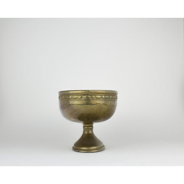 Vintage Brass Pedestal Bowl - Image 5 of 11
