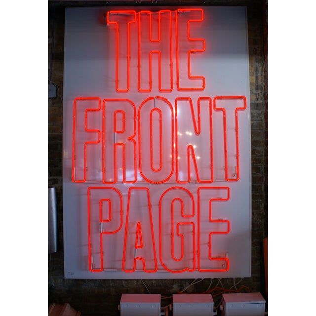 "Neon Sign ""The Front Page"" For Sale In Chicago - Image 6 of 6"