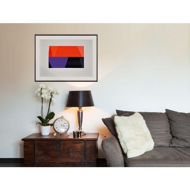 Acrylic on paper Edition: Unique, Unframed. Using the geometric vocabulary found in architectural schemata, Bolt tries to...
