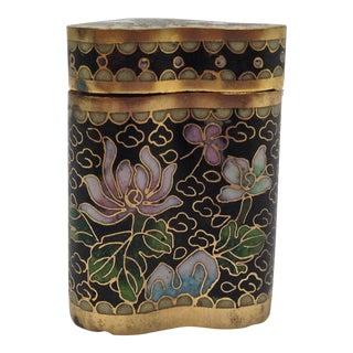 Antique 1800s Cloisonné Opium Box