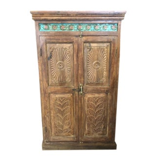 Antique Farmhouse Armoire Artistic Carved Cabinet Preview