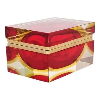 Rare Vintage 1970s Murano Glass Jewelry Box by Alessandro Mandruzzato