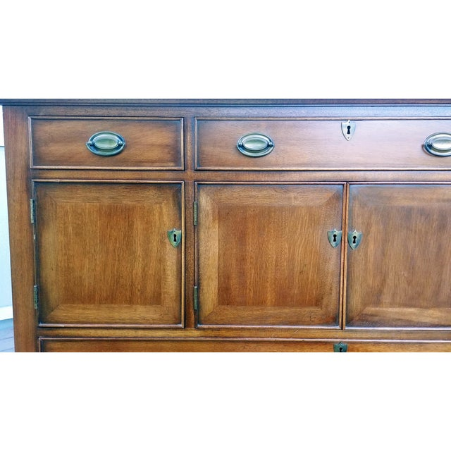 1966 Biedermeier Craftique Solid Mahogany Sideboard Buffet For Sale - Image 11 of 13