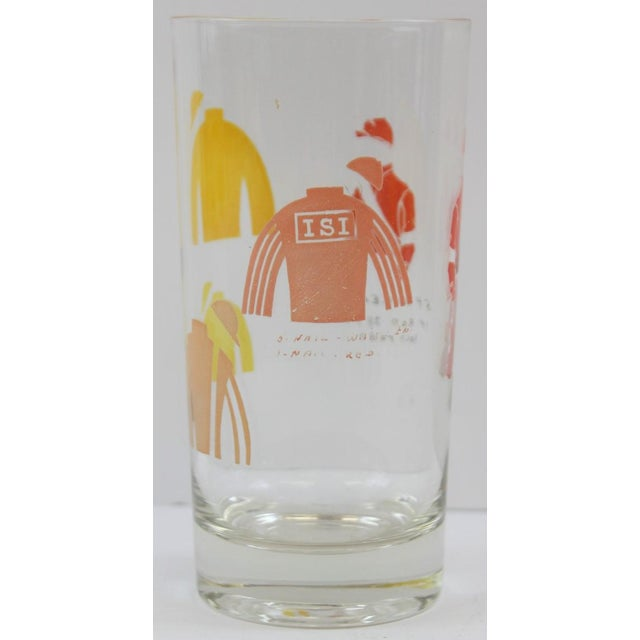 Hand-Painted Jockey Highball Glasses - Set of 6 For Sale - Image 5 of 8