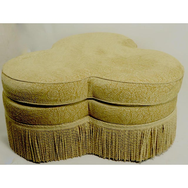 Fringed Cloverleaf Ottoman by Hickory Furniture For Sale In New York - Image 6 of 12