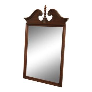 Ethan Allen Georgian Court Cherry Broken Arch Top Mirror For Sale