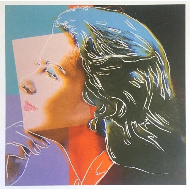 "Andy Warhol Estate Vintage 1989 Pop Art Lithograph Print "" Ingrid Bergman Herself "" 1983 For Sale - Image 10 of 10"
