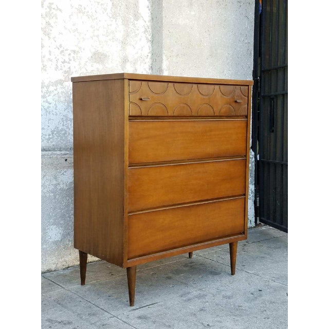 Vintage Bassett Walnut Dresser - Image 5 of 5