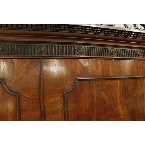 18th Century George III Period Linen Press For Sale - Image 4 of 8