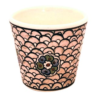 Neslihan Contemporary Handpainted Ceramic Espresso Cup For Sale