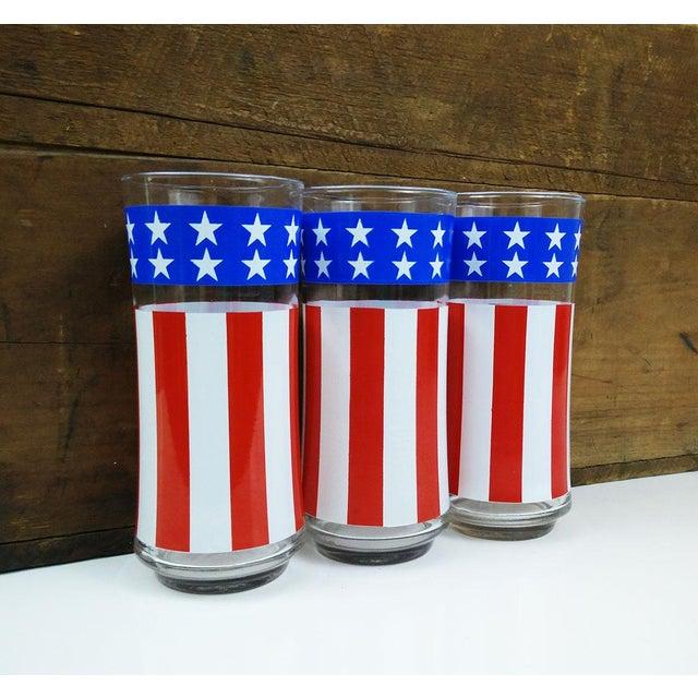 Vintage Libbey American Flag Glasses - Set of 3 - Image 6 of 6