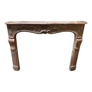 Louis XV Style Marble Mantel For Sale
