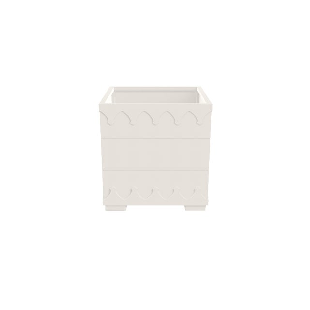 Oomph Oomph Ocean Drive Outdoor Planter Small, White For Sale - Image 4 of 5