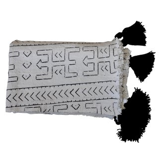 African Cotton Throw With Tassels
