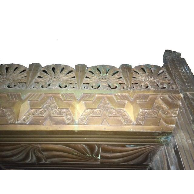 Art Deco Bronze/Brass Elevator Door Frame - Image 7 of 10