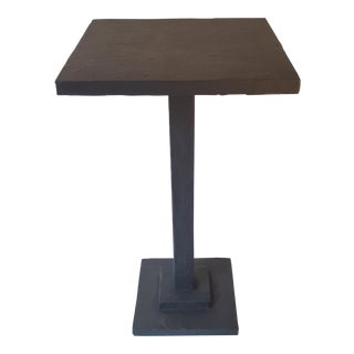 Modern Small Artisan Accent Table Black For Sale