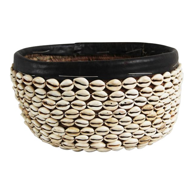 Vintage Cowry Shell Basket - Image 1 of 3