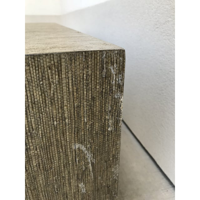 Grasscloth Greek Key Coffee Table For Sale - Image 6 of 13