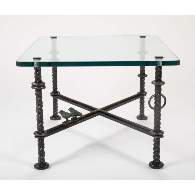 Ilana Goor Patinated Wrought Iron Coffee Table by Llana Goor For Sale - Image 4 of 13