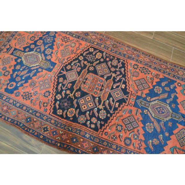 "Antique Persian Bidjar Long Rug - 4'5"" x 8'3"" - Image 5 of 9"