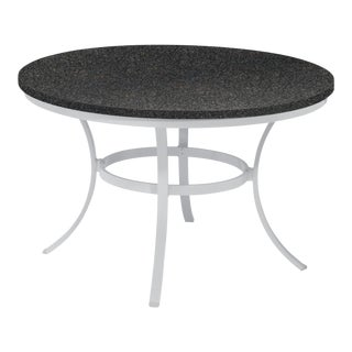 "48"" Round Outdoor Dining Table, Charcoal For Sale"