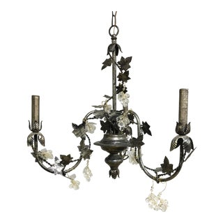 Contemporary Floral John Richard 3 Arm Chandelier For Sale