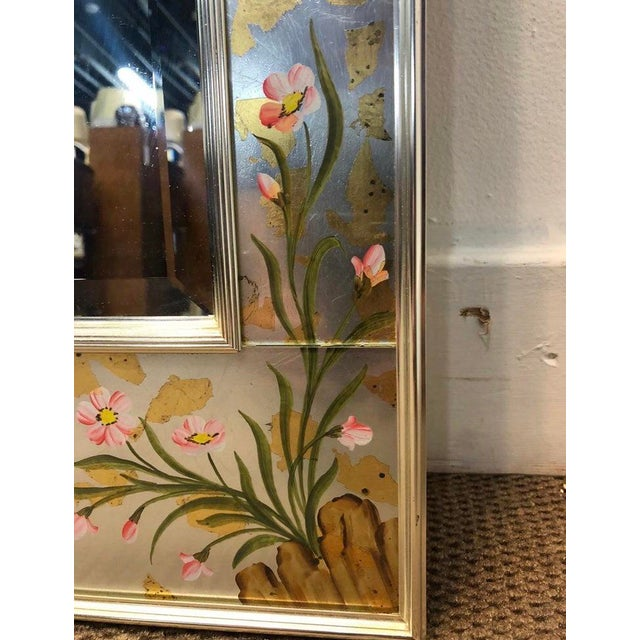 Labarge Chinoiserie Wall Reverse Painted Mirror For Sale In Chicago - Image 6 of 7