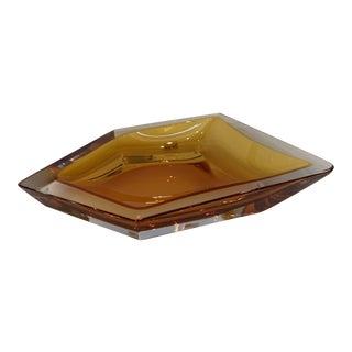 21st Century Orange Crystal Murano Organic Bowl by Mandruzzato For Sale