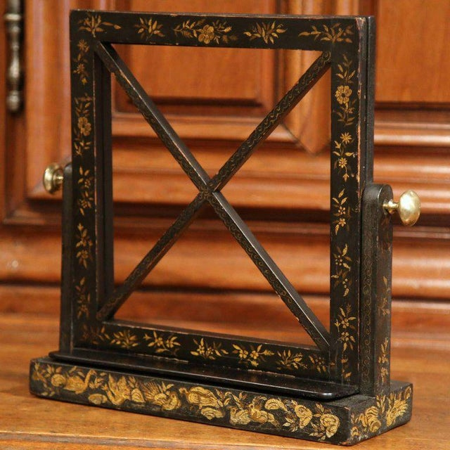 Early 20th Century French Hand Painted Bookstand - Image 4 of 7