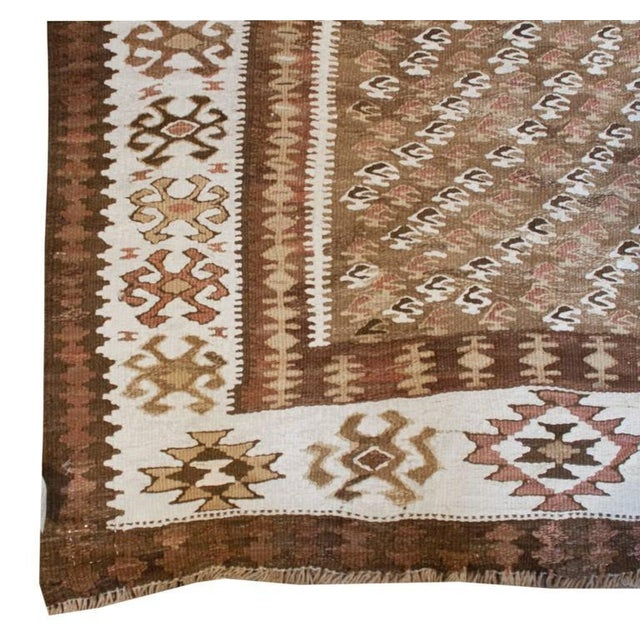 "Islamic Early 20th Century Qazvin Kilim Runner - 40"" x 126"" For Sale - Image 3 of 5"