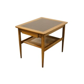 Mid-Century Modern American of Martinsville Cane Tiered End Table For Sale