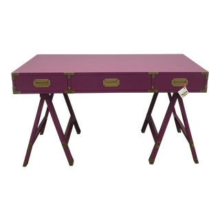 Orchid Pink Campaign Desk For Sale