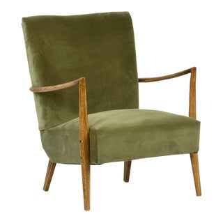 Green Velvet Midcentury Chair