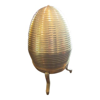 Mid-Century Large Brass Display Egg