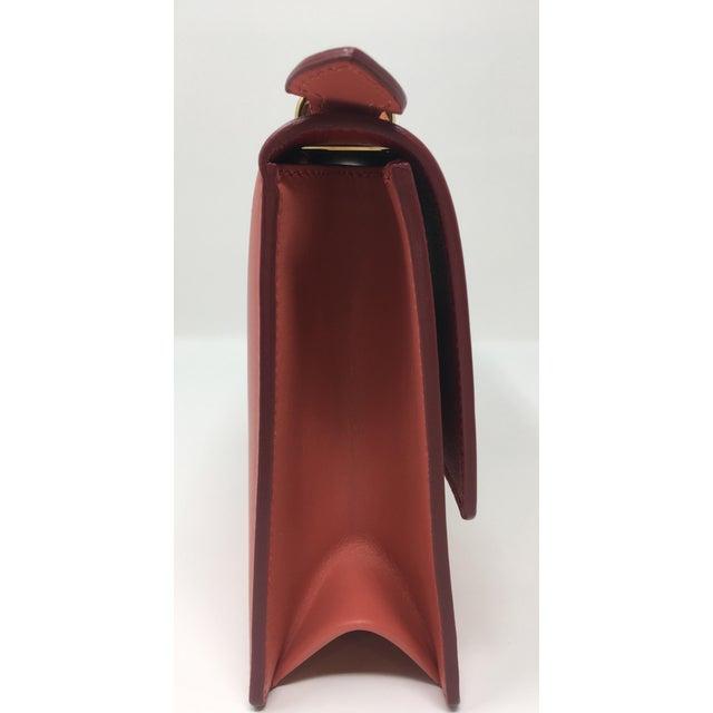 Salvatore Ferragamo Beautiful Rouge Box Leather Salvatore Ferragamo Top Handle or Cross Body Bag For Sale - Image 4 of 12