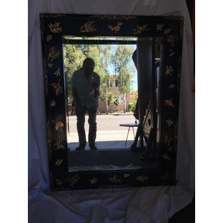 Chinoiserie Wal Mirror Decorated With Butterflies Preview