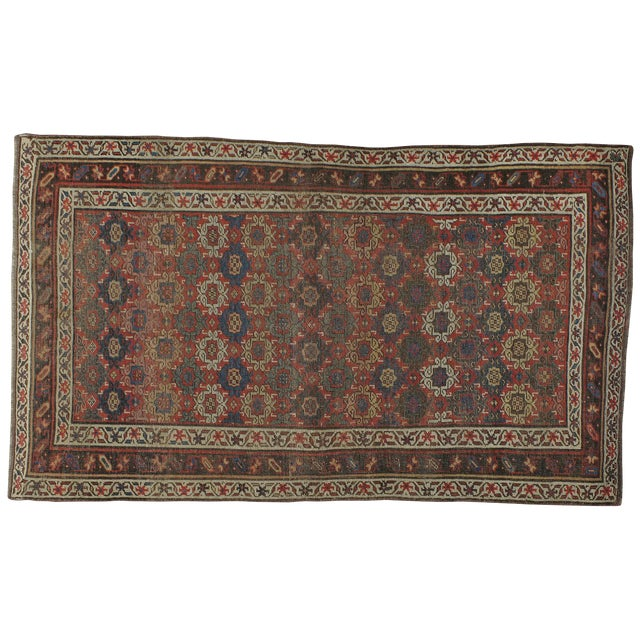 """Antique Persian Distressed Rug - 3'10"""" X 6'6"""" - Image 1 of 4"""
