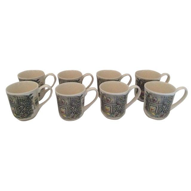Johnson Brothers Christmas Coffee Mugs - Set of 8 For Sale