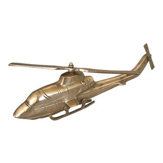 Vintage Mid-Century Brass Helicopter
