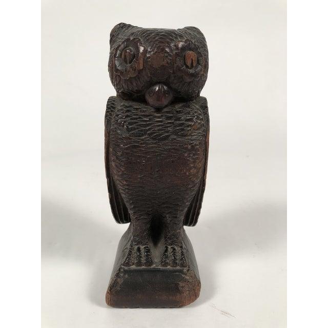Folk Art Carved Owl For Sale - Image 11 of 12