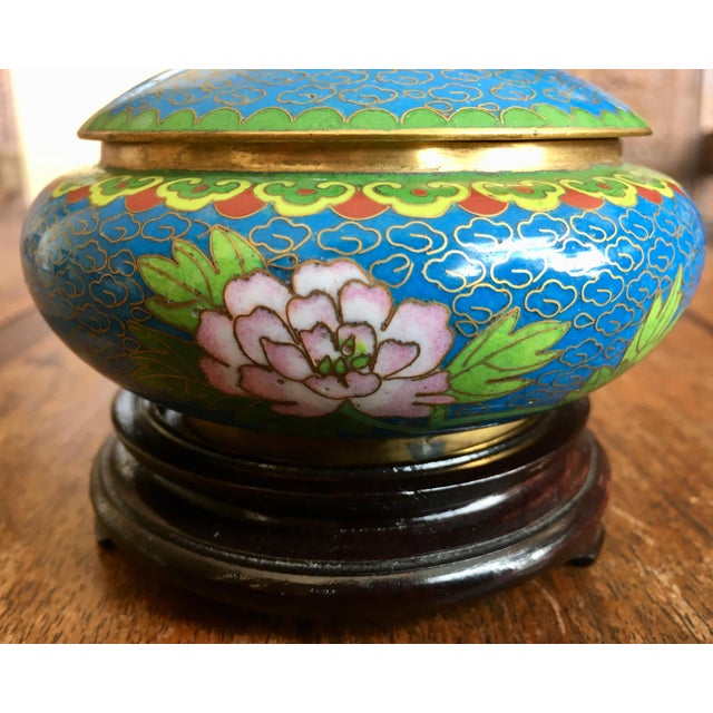 1970s 1970s Chinese Cloisonne Trinket Box For Sale - Image 5 of 13