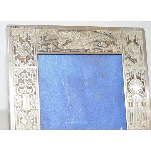 Sterling Silver New Born Baby Picture Frame c.1920s For Sale - Image 5 of 7