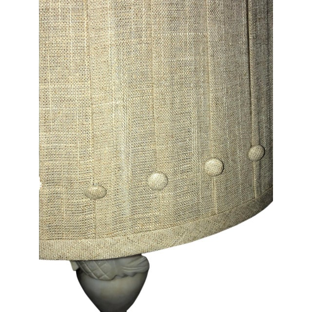 French Marble Lamps With Custom Shades - a Pair For Sale In Dallas - Image 6 of 11