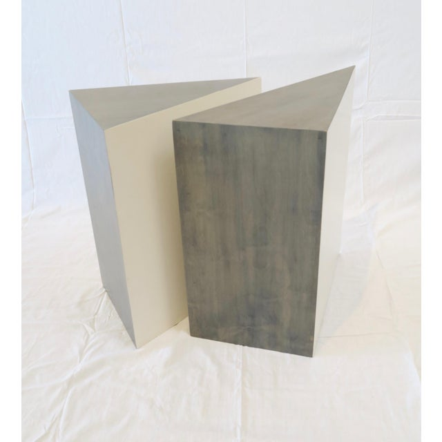 Triangle Side Tables - A Pair - Image 3 of 8